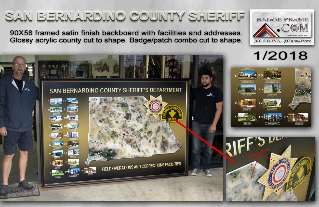 San Bernardino County Sheriff's Location Presentation from Badge Frame 1/2018