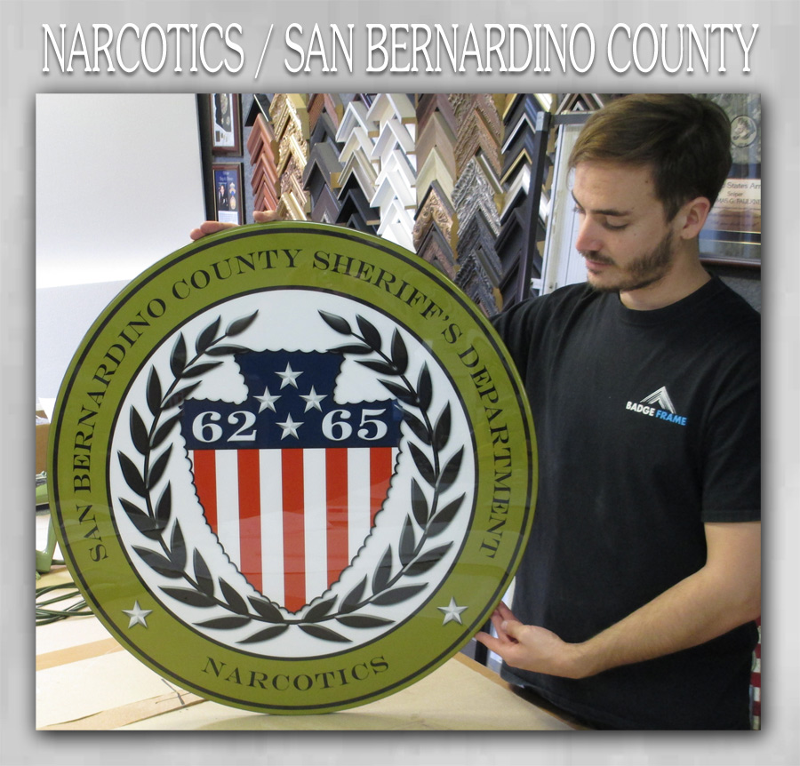 SBCSO - Narcotics Emblem from Badge Frame
