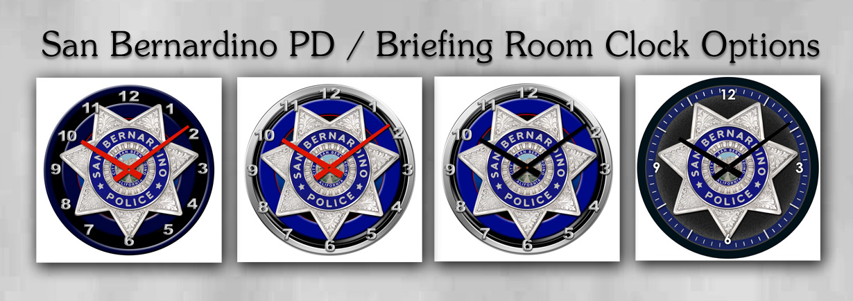 San Bernardino PD / Briefing Room Clock Options