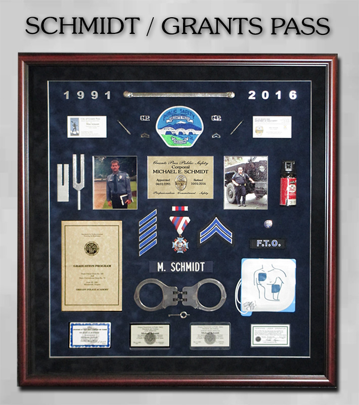 Schmidt - Grants Pass             PD Retirement Presenation from Badge Frame