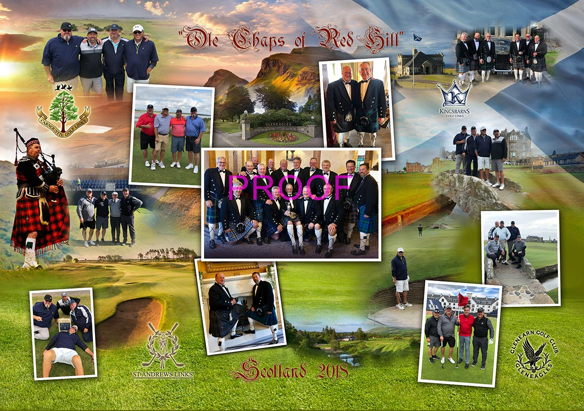 Scotland Golf Collage