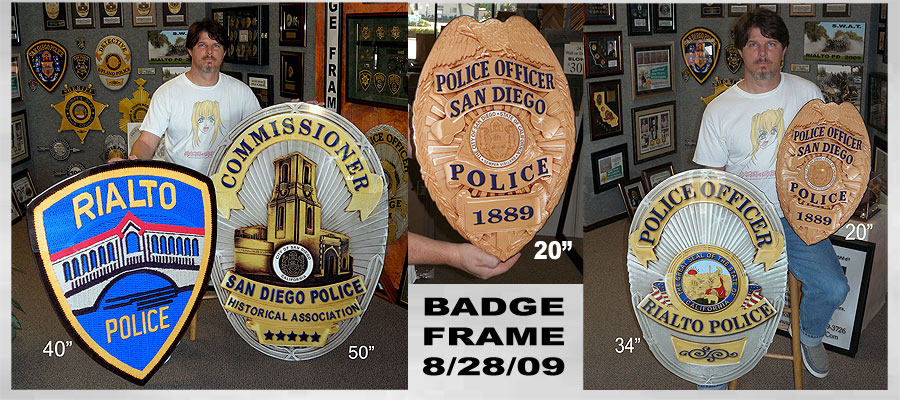 San Diego and Rialto           Badge