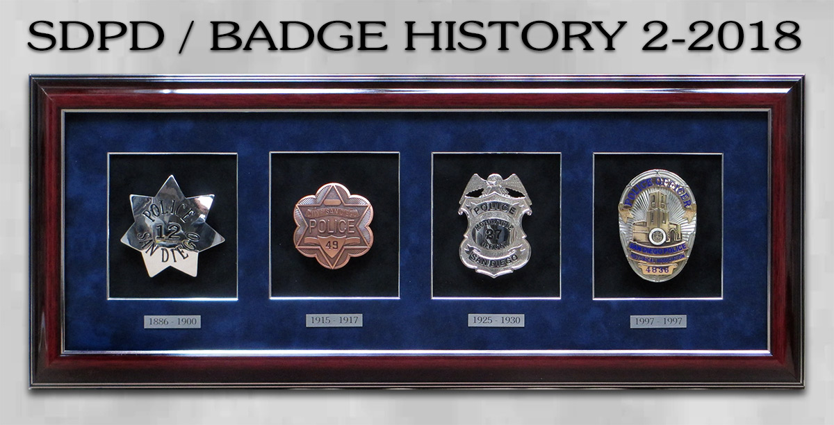 San Diego PD Badge History from Badge Frame