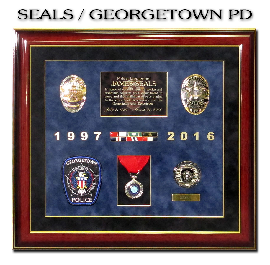 Seals /                             Georgetown PD / Badge Frame Retirement                             Presentation