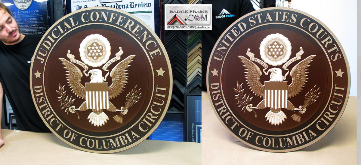 District of Columbia Circut Seals from Badge Frame
