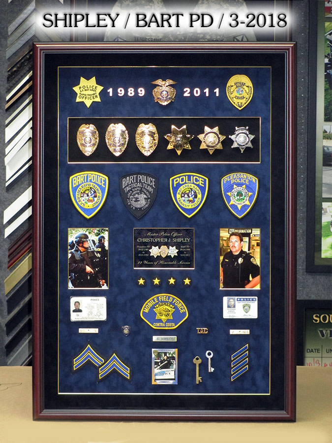 BART PD - Shipley Retirement Presentation from Badge Frame