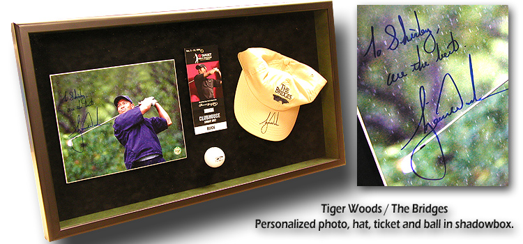 Tiger                Woods / Shirley Leggio Shadowbox
