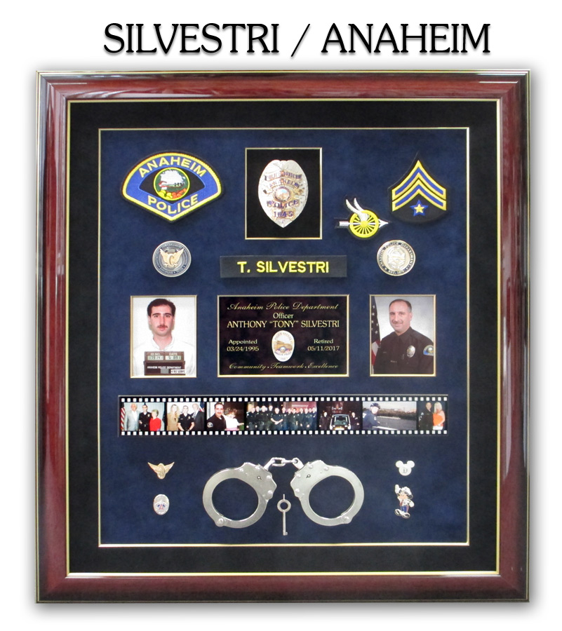 silvestri - Anaheim PD Police Retirement fomr Badge Frame