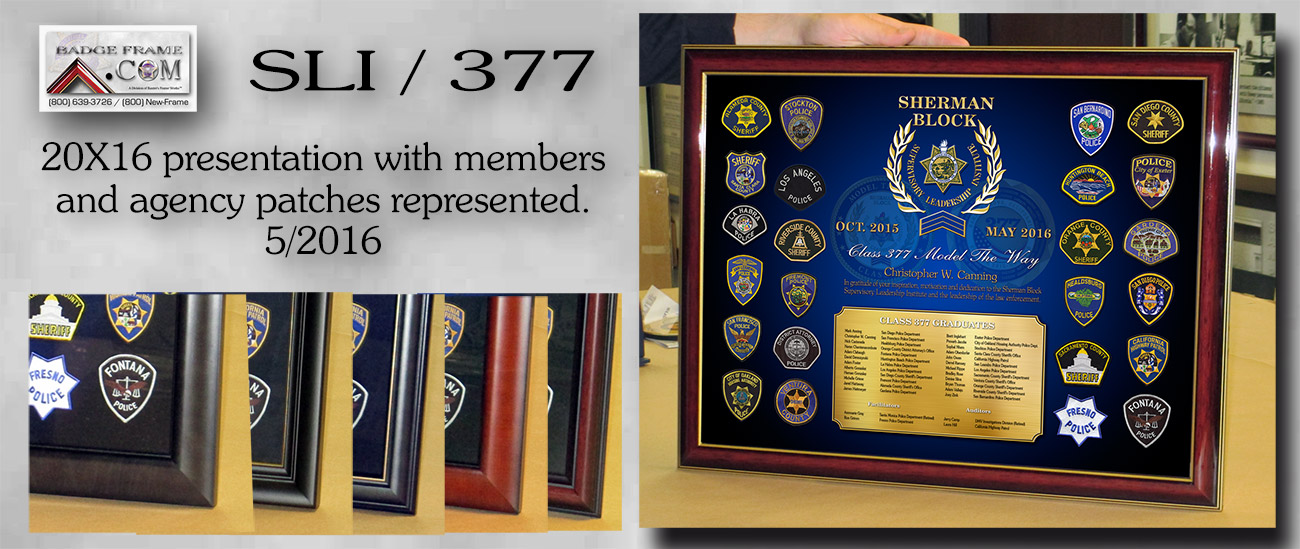 SLI Class 377                             Framed Presentations from Badge Frame