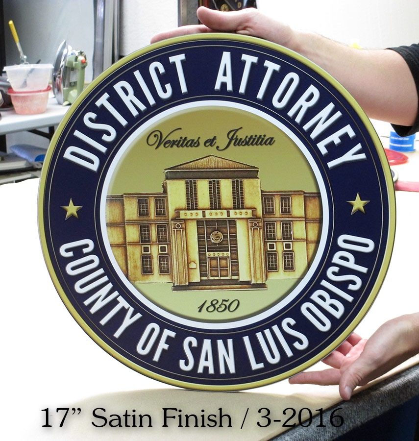 San Louis Obispo - Districy Attorney Seal from Badge Frame