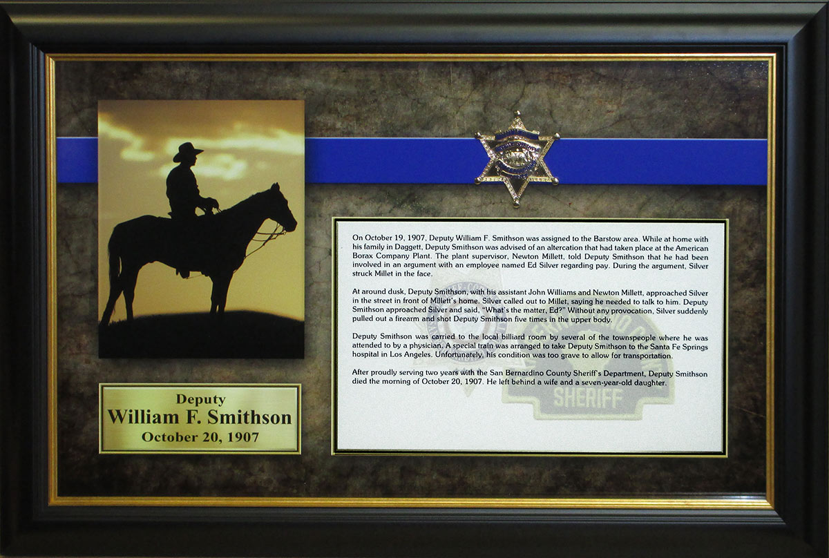 Smithson           E.O.W. Presentation from Badge Frame