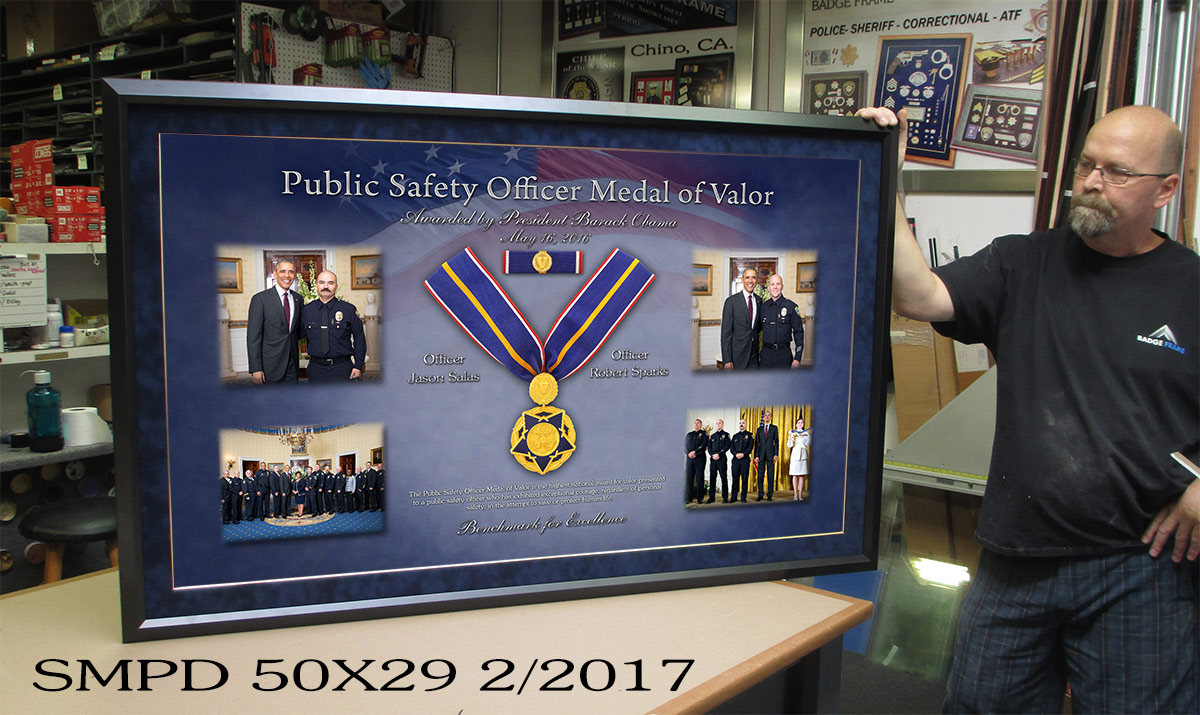 Santa Monica PD - Presidential Medal of Valor presentation from Badge Frame