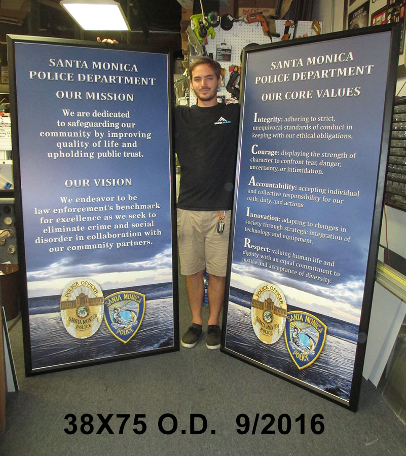 Santa Monica PD             Mission - Vision - Values presentation from Badge Frame