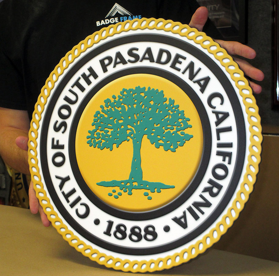 South Pasadena Podium Emblem from Badge Frame