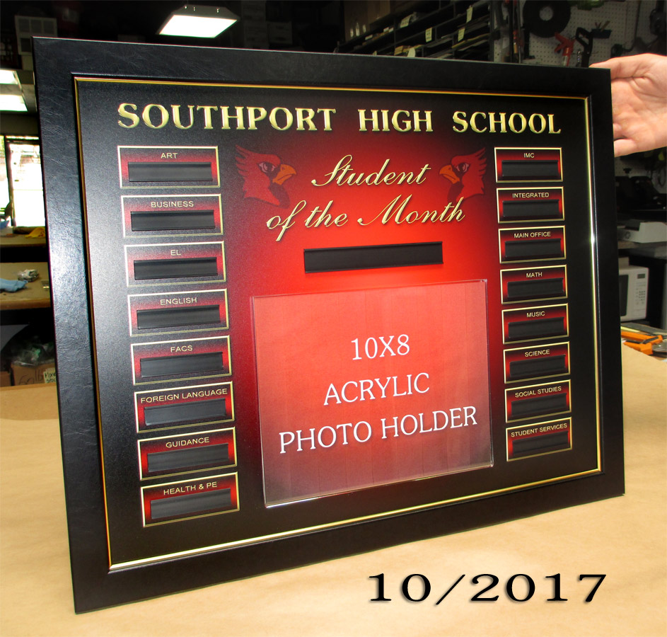 Southport HS - Student of the Month from Badge Frame