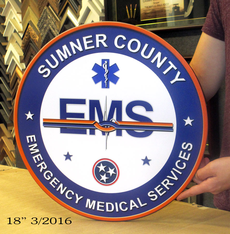 Sumner County EMS - Podium Logo from Badge Frame