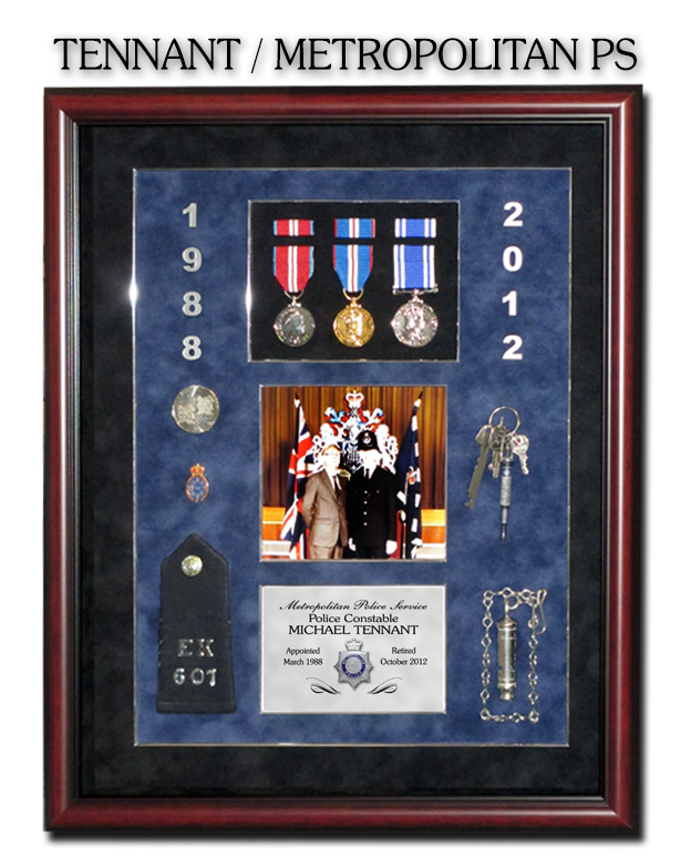 Tennant -                             Metropolitan Police Service Presentation                             from Badge Frame