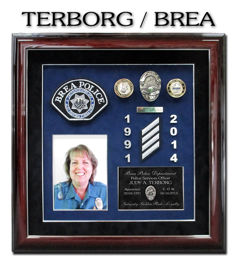 Brea PD Presentation from Badge Frame for Terborg