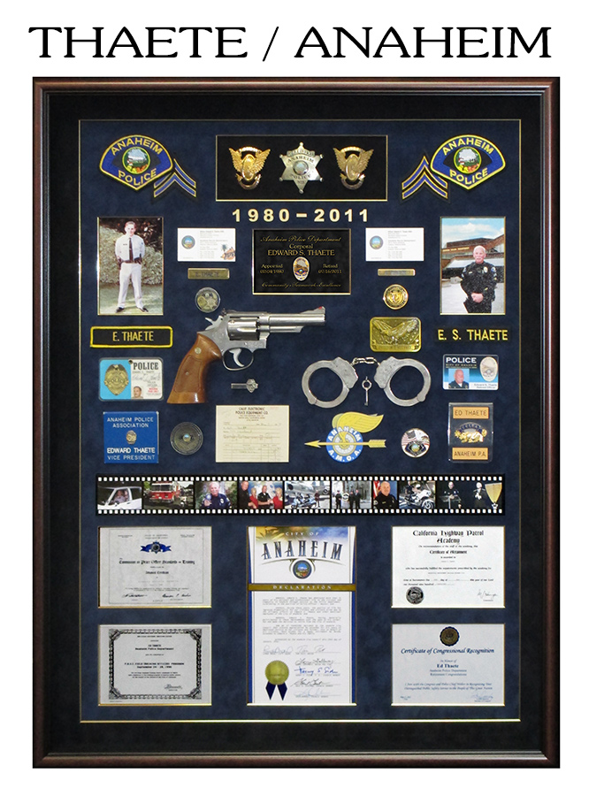 Thaete - Anaheim PD Retirement Police Shadowbox from Badge Frame