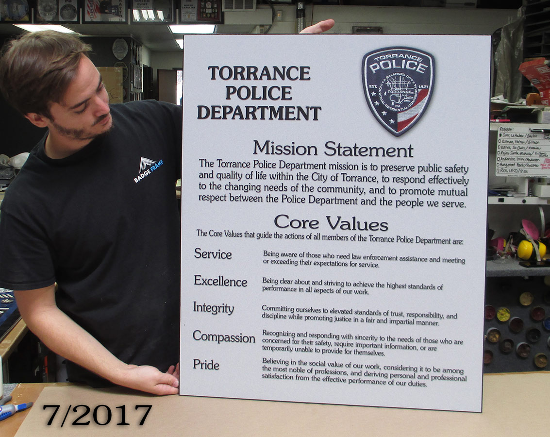 Torrance Police Ethics                 presentation from Badge Frame