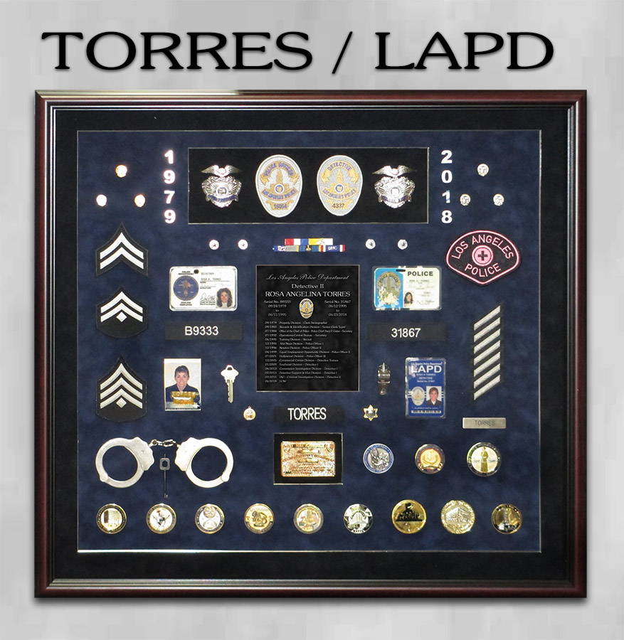 Torres / LAPD Retirement Shadowbox from Badge Frame