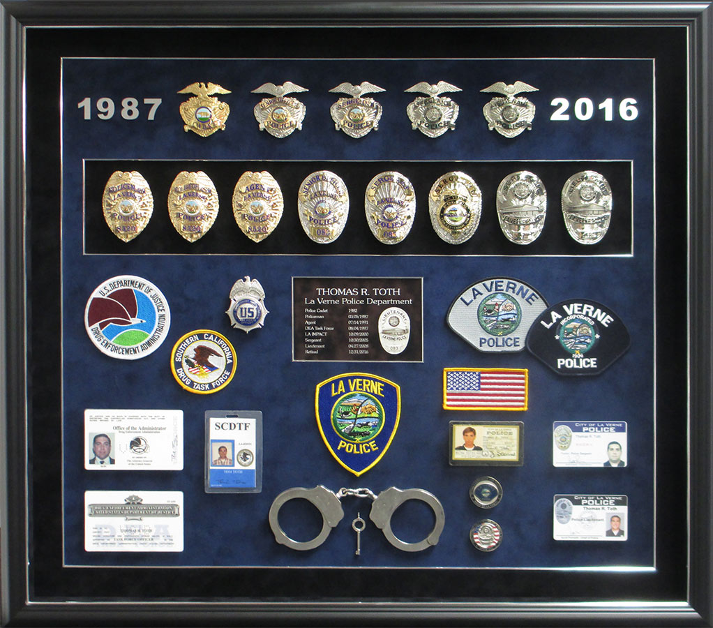 Toth - La Verne Police Shadowbox from Badge Frame