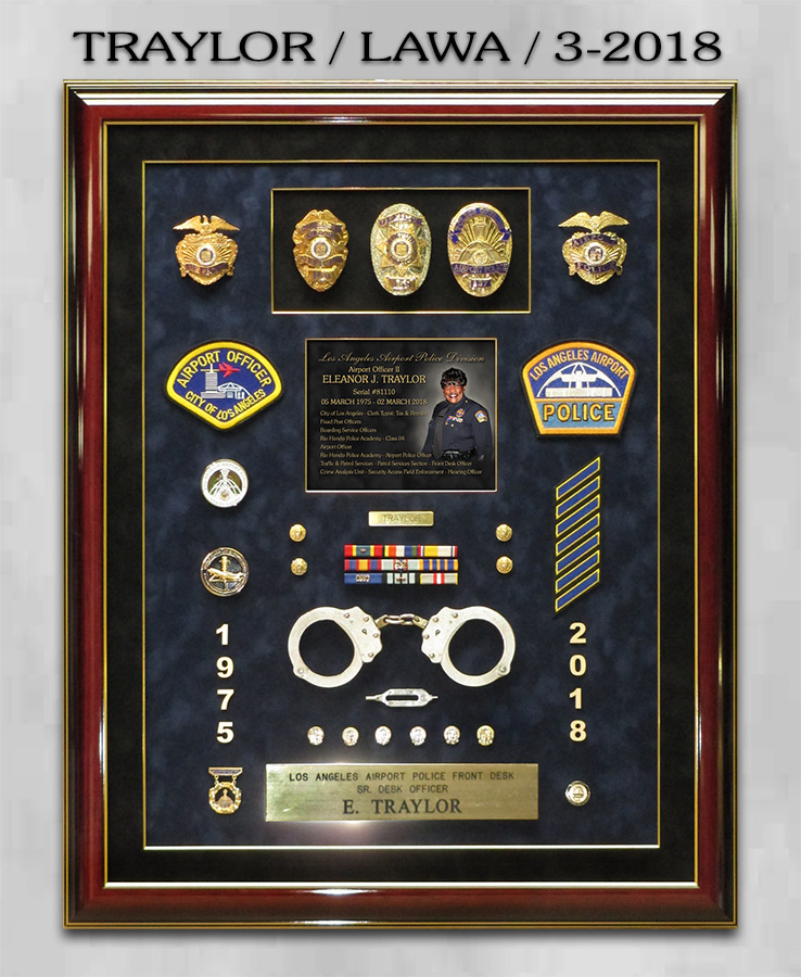 Traylor - LAWA Retirement Presentation from Badge Frame