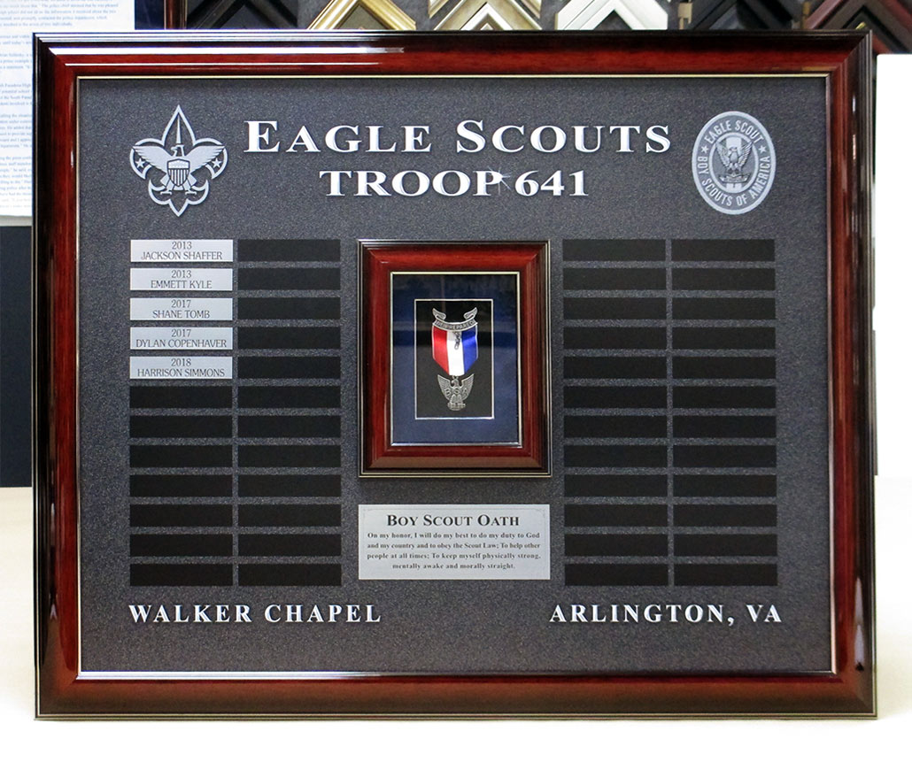 Seagle Scouts Troop 641 Perpetual Plaque