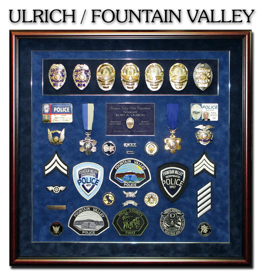 Fountain Valley PD - ULRICH Retirement Presentation from Badge Frame