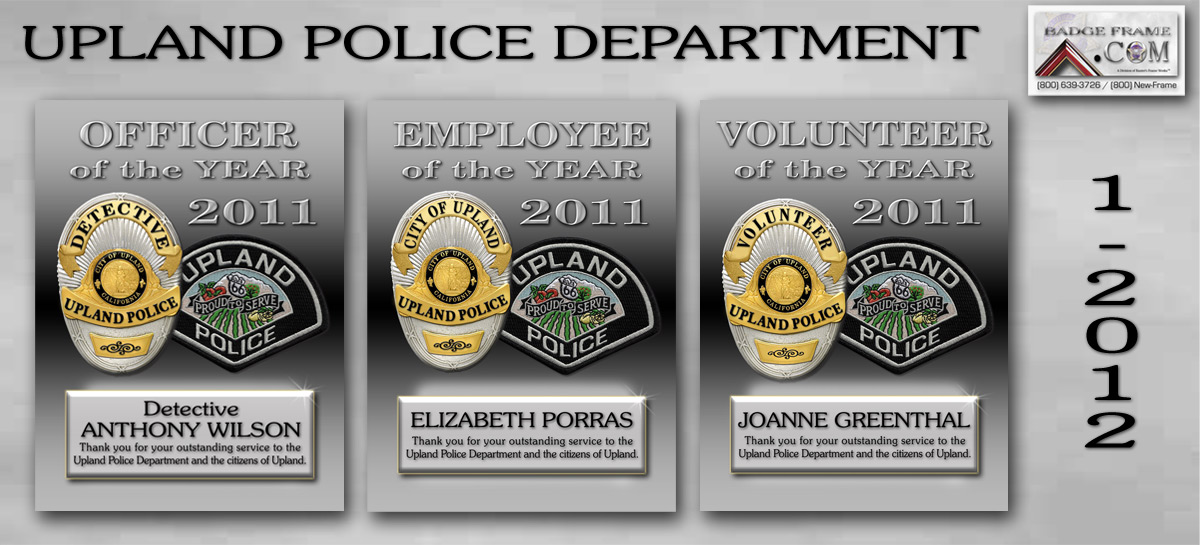Upland PD - 2011 Recognition Plaques