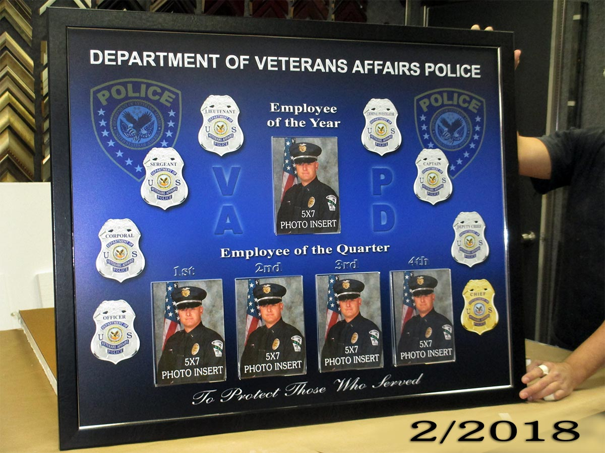 Deapartment of Veterans Affairs PD Perpetual Plaque - Of the Year and Of the Quarter
