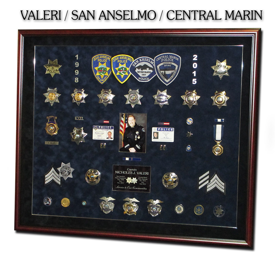 Valeri - San Anselmo PD & Central Marin PD Police Retirement Presentation from Badge Frame 10/2016