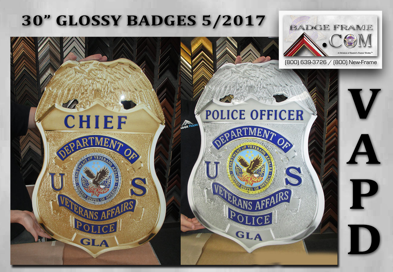 "Vetrans Affaris PD 30"" Badges from Badge Frame"