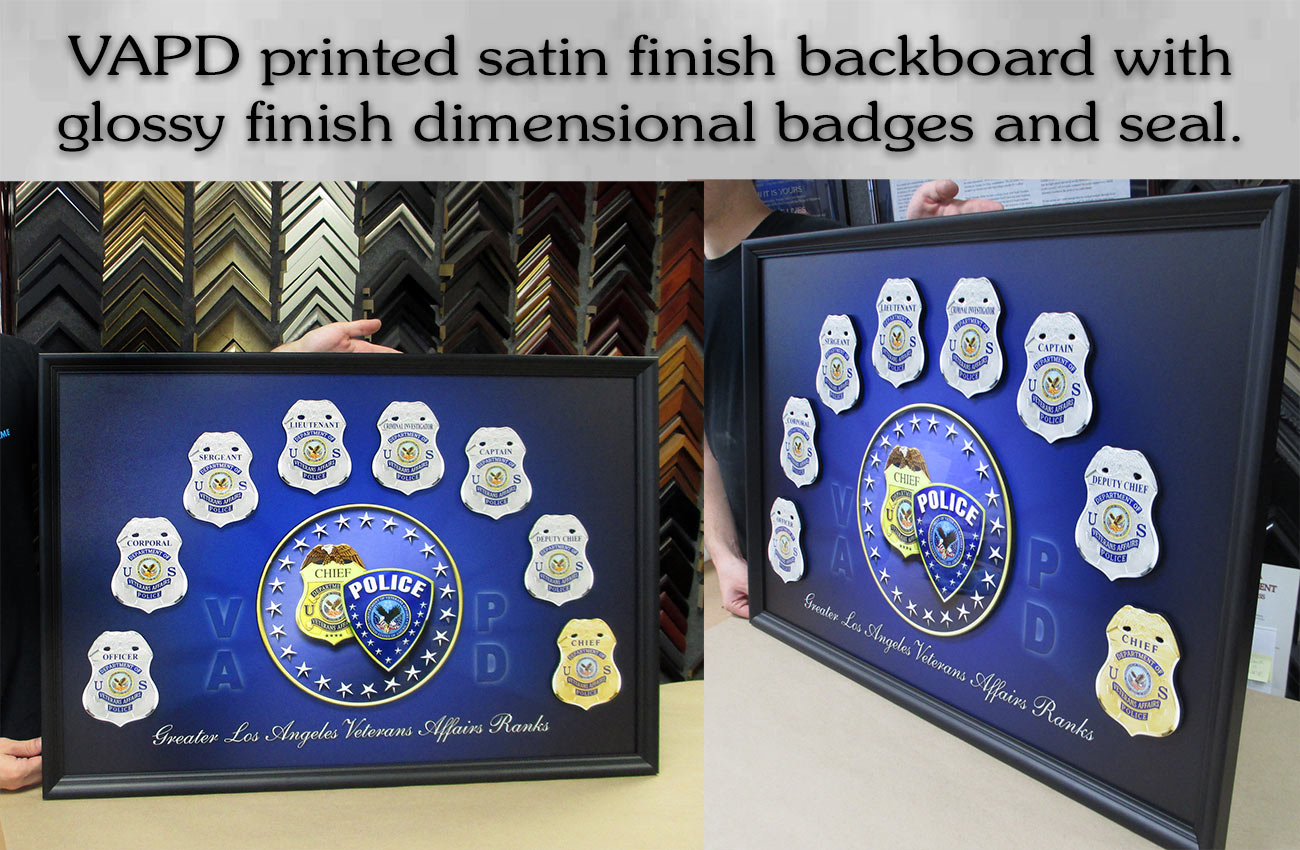 VCAPD Badges and Seal from Badge Frame