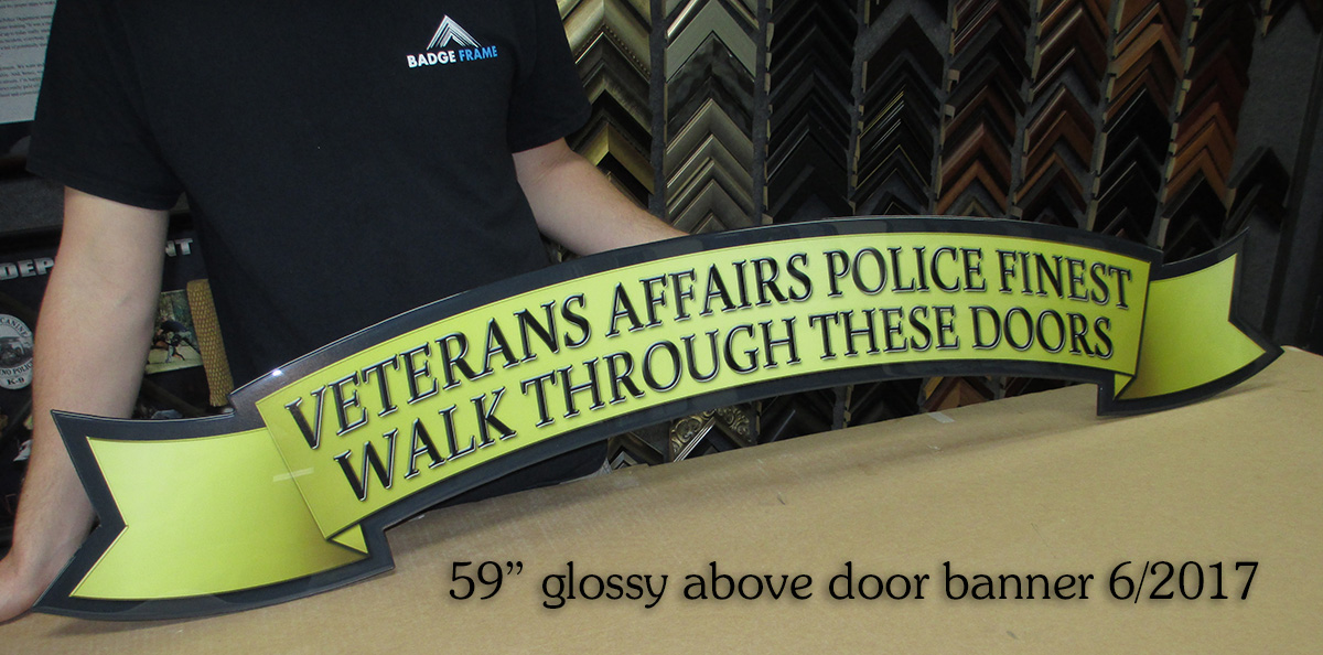 VAPD Banner for above door