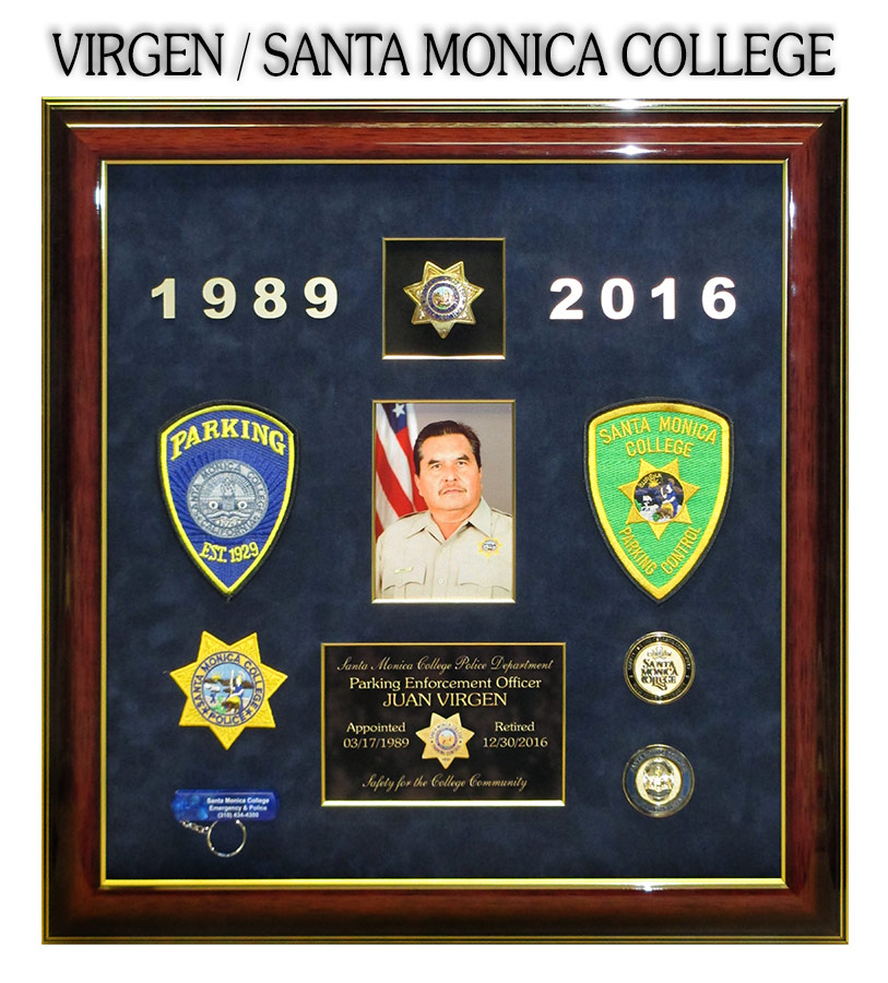 Virgen / Santa Monica College presentation from Badge Frame