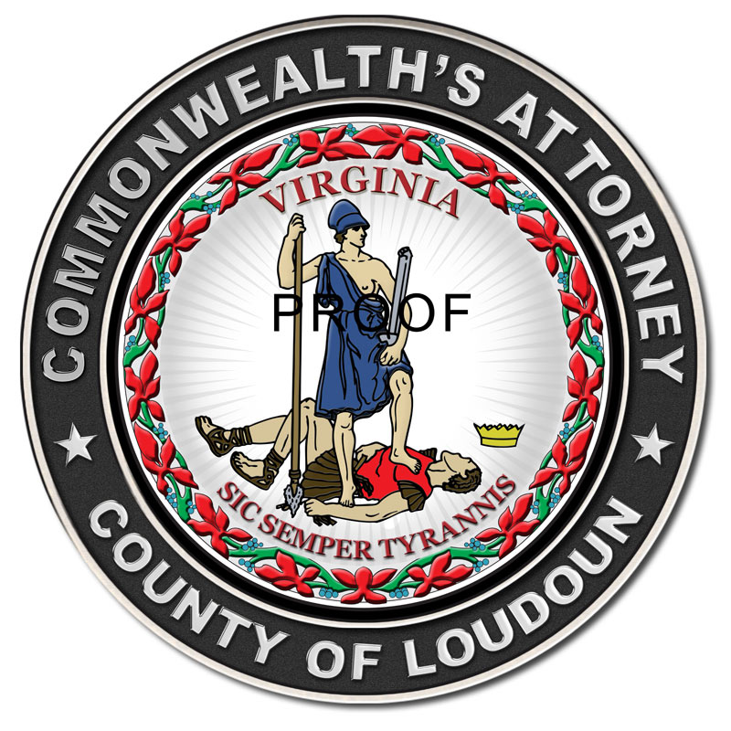 Commonwealth's Attorney - County of Loudoun - Virginia Seal from Badge Frame 10/2016