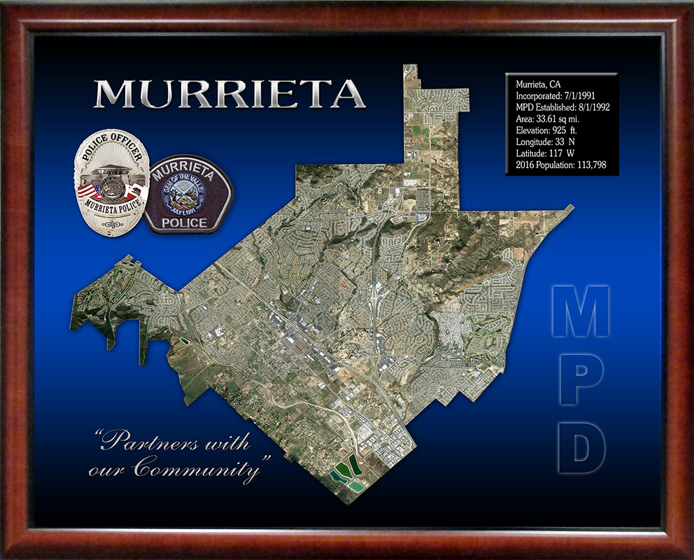 Murrieta PD Badge Frame                                       projects 8/2016