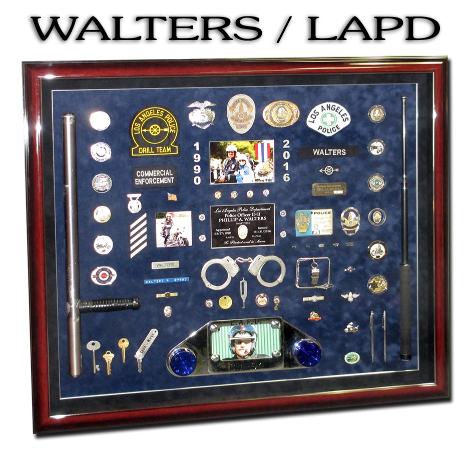 Walters -           LAPD MotorCop presentation from Badge Frame