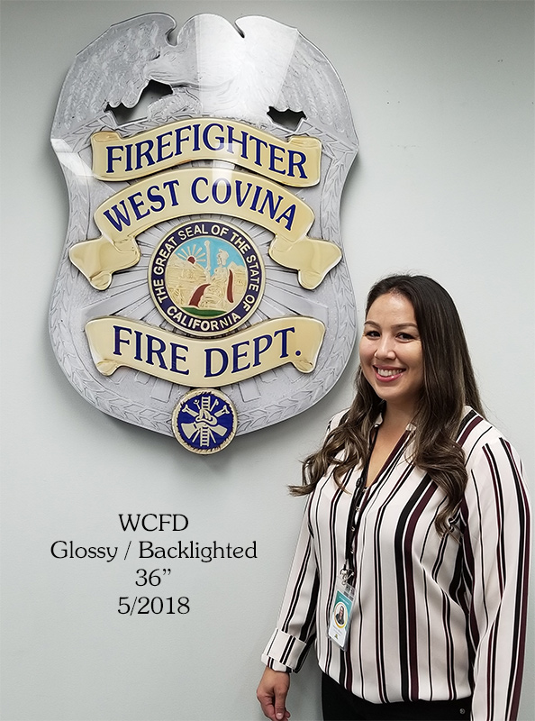 Werst Covina Fire Badge