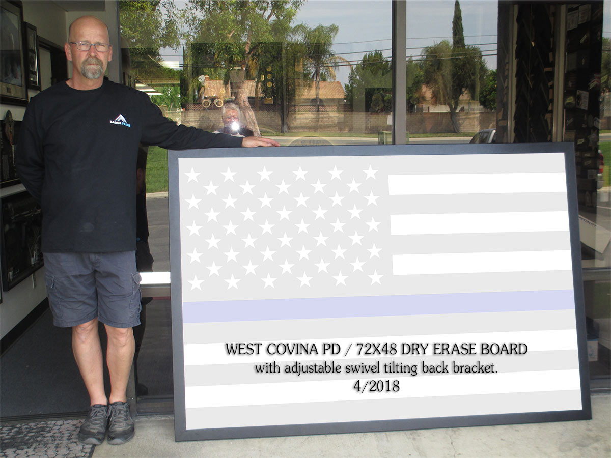 West Covina PD - Dry Erase Board