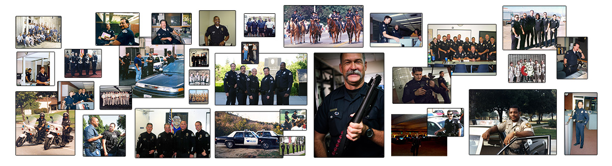 West Covina PD Collage wall
