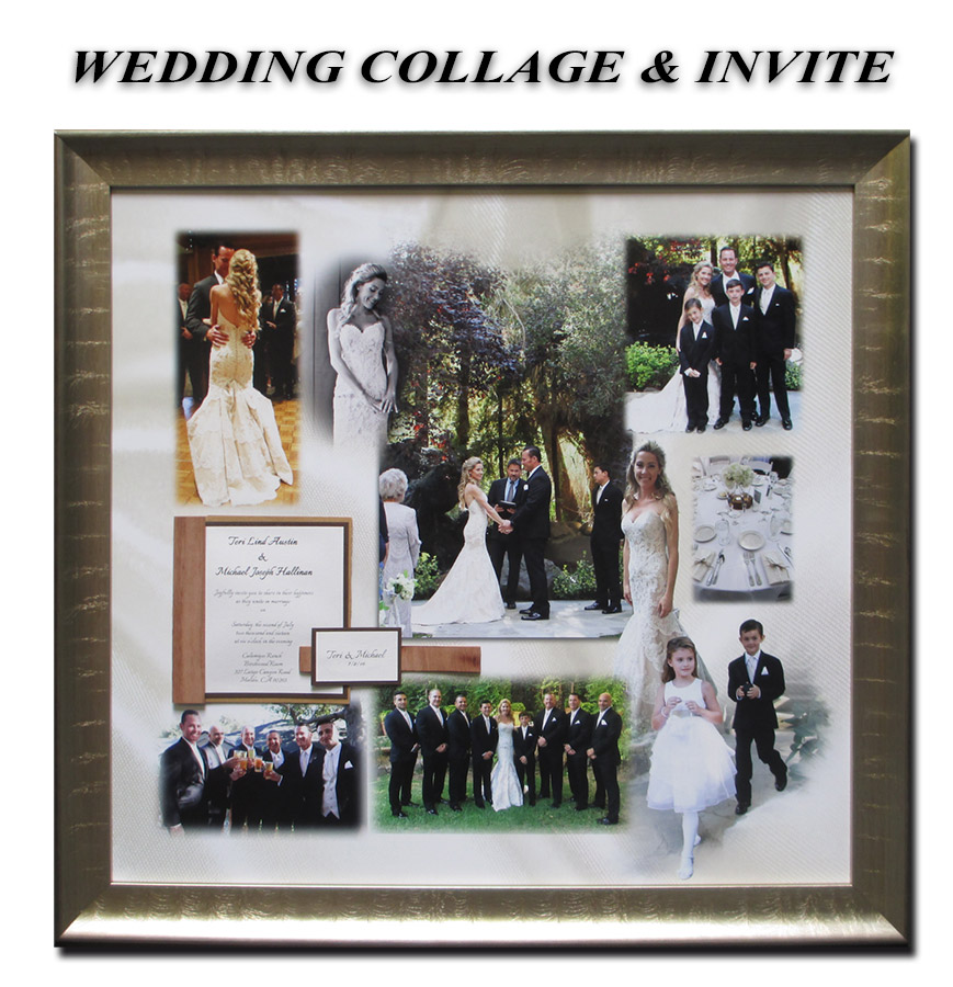 Wedding Collage with invite - presentation from Badge Frame