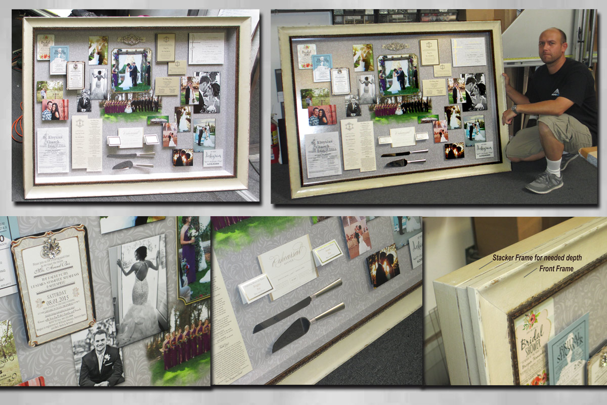 Wedding Collage Shadowbox from Badge                             Frame