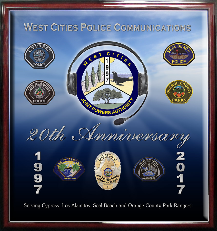 West Cities           Communications 20th Anniversary Presentation from Badge Frame