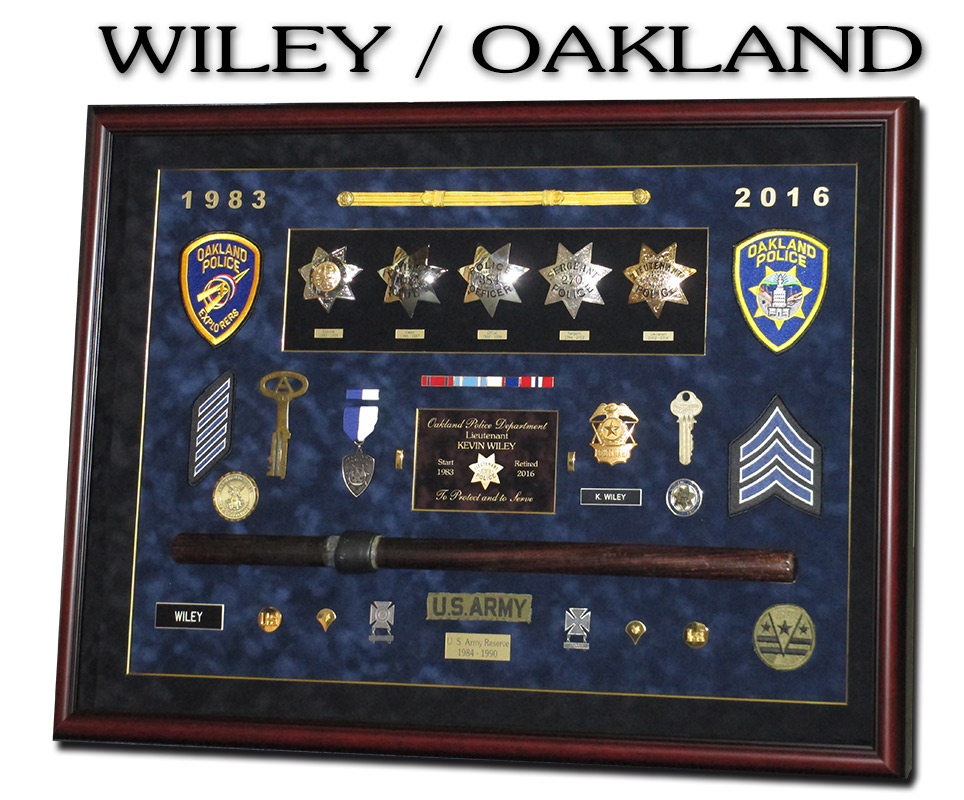 wiley,                             oakland, army, badgeframe