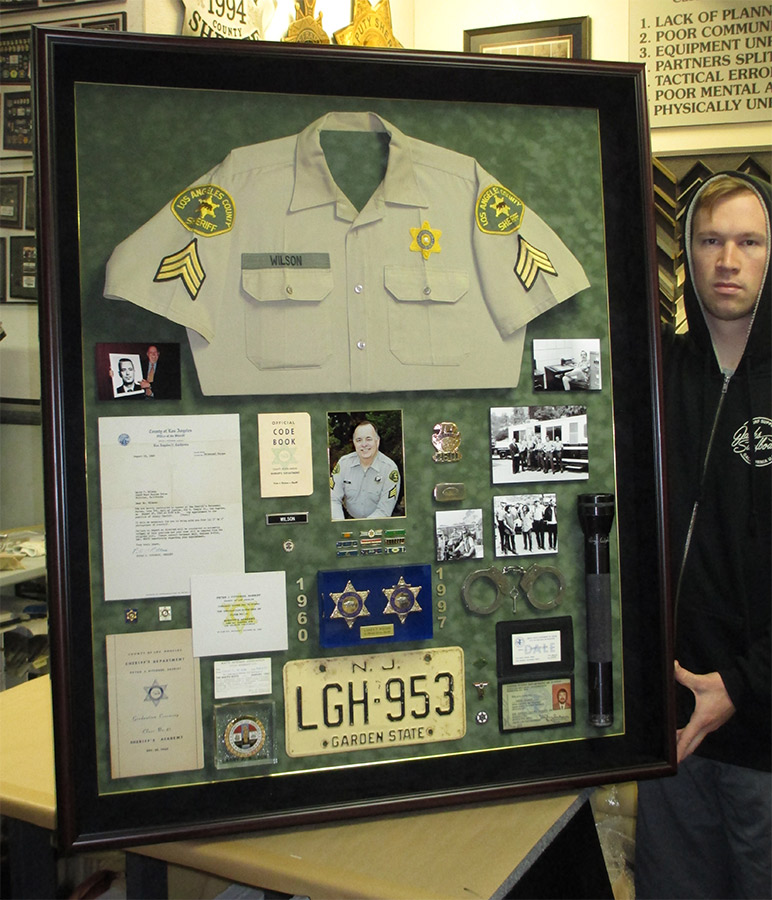 Larry Wilson - Los Angels County               Sheriff - Career Showcase Shadowbox from Badge Frame